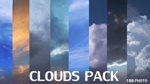 Pack of 189 clouds