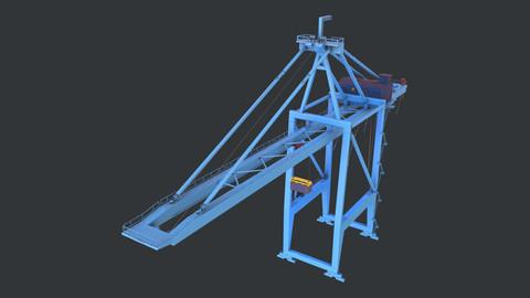 PBR Quayside Container Crane Version 1- Blue Light