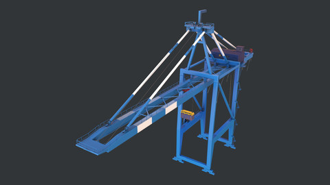PBR Quayside Container Crane Version 1 - Blue White