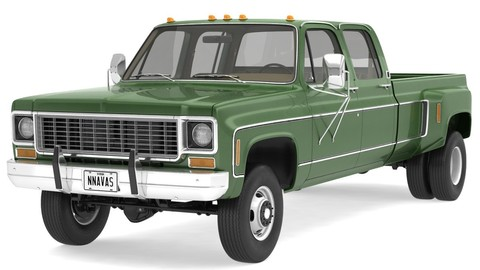VINTAGE 4WD DUALLY PICKUP TRUCK 9