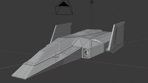 Blue Falcon 3D model