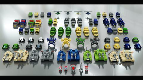 Voxel Combat Vehicles