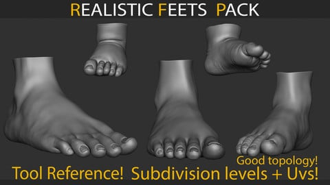 Realistic Feets Pack