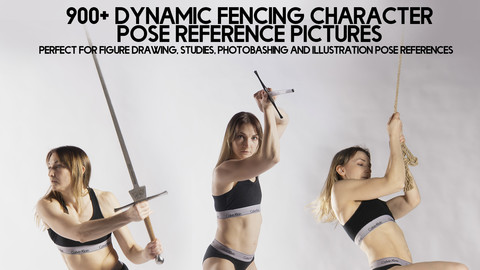 900+ Dynamic Fencing Character Pose Reference pictures