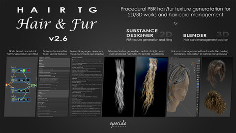 HairTG - Hair & Fur for Substance Designer