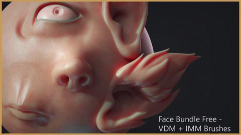 Zbrush - Free - Face IMM + VDM Bundle