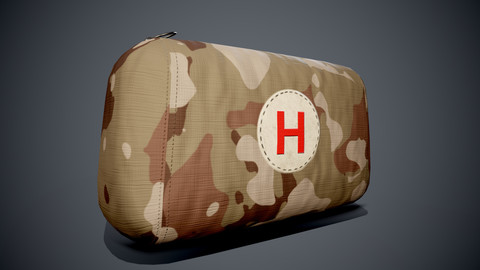 First Aid Kit - Game- PBR Low-poly