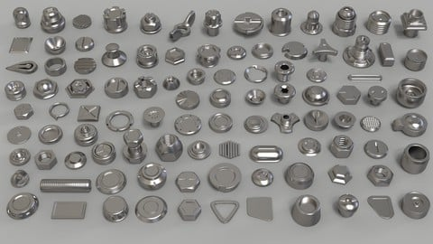 Bolts and Knobs-part-1-100 pieces