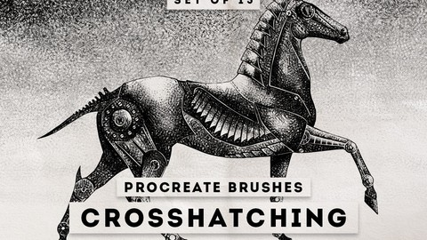 Crosshatching Procreate Brushes Photoshop
