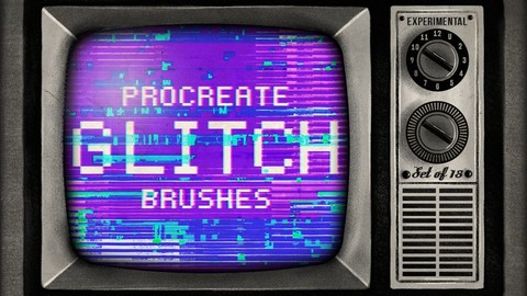 Procreate Glitch brushes - set of 18 - Brush pack