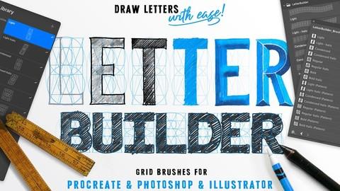LetterBuilder - Draw letters easily - Procreate Brush Pack