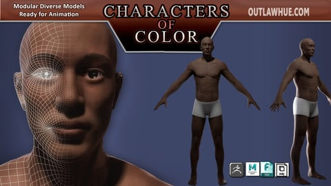 Characters of Color: African Descent Modular Model