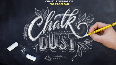 Chalk Dust - Procreate Lettering Kit - Brush Pack
