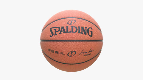 Clean Spalding Basketball Ball