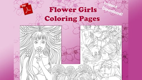 Flower Girls (Coloring Pages)