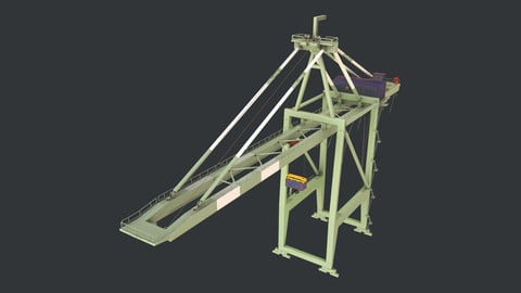 PBR Quayside Container Crane Version 1- Green White