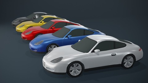Coupe Car Generic Low-poly 3D Model