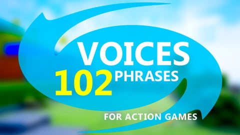 Children & Adults Voices for Action Games, with Sources, Pack #1