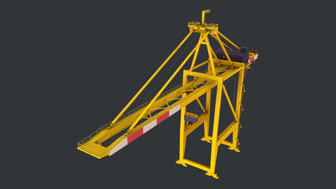 PBR Quayside Container Crane Version 1 - Yellow Red