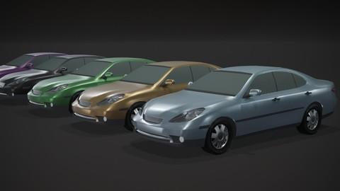 Sedan Car Generic Low-poly 3D model