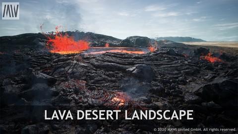 UE4 - LAVA DESERT LANDSCAPE