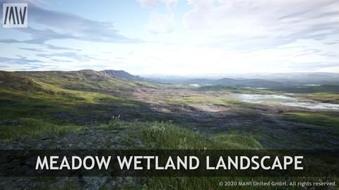 UE4 - MEADOW WETLANDS LANDSCAPE