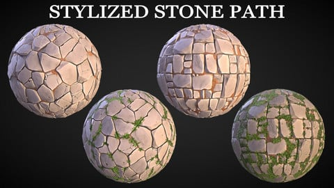 Stylized Stone Path Texture Pack