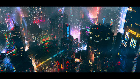 LookDev - Making CyberPunk City