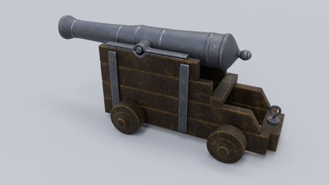 Low poly Cannon 3D model