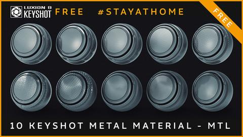 10 Free Metal Keyshot Material