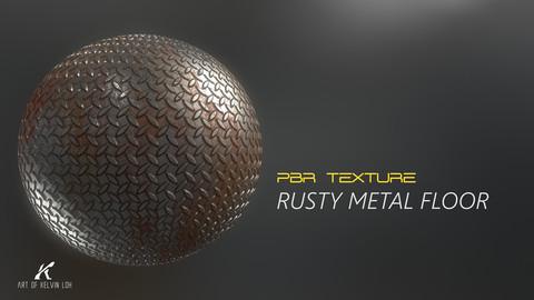 PBR Texture | Rusty Metal Floor