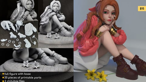 Aerith Fan Art - 3D Printable Figure