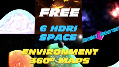 ( Almost ) 6 FREE SPACE HDRI ENVIRONMENT MAPS -Equirectangular format-