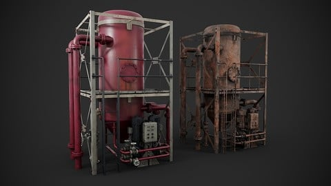 Industrial gas separator
