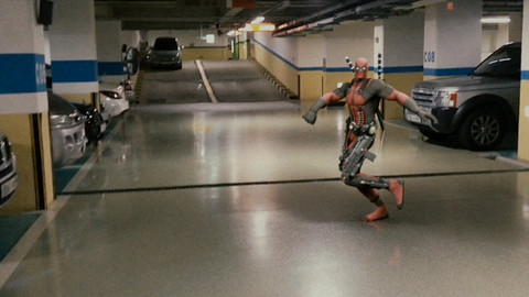 VFX - Dancing DeadPool in the Parking Zone