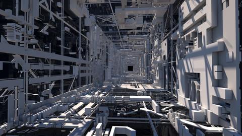Sci-Fi Tunnel Structure