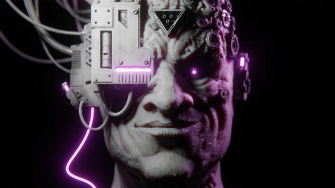 Cyberpunk Portrait Blend. File