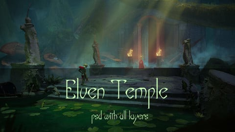 Elven temple psd with all layers