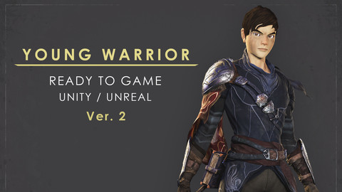 Young Warrior - Ver 2 - Ready to Game - Low Poly - 3D Model