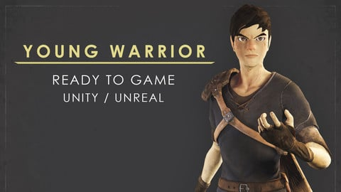 Young Warrior - Ver1 - Ready to Game - Low Poly - 3D Model