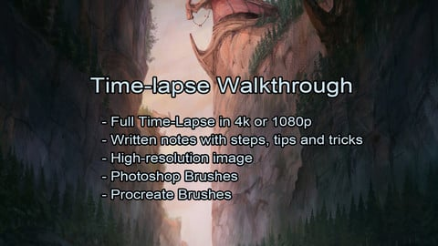 Howling Fjord - Procreate Time-lapse Walkthrough