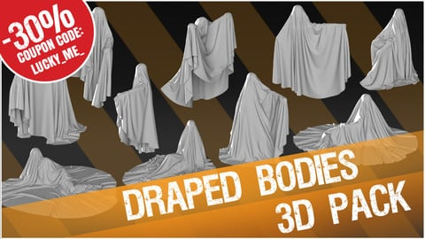 3D Pack: Draped Bodies (Cloth)