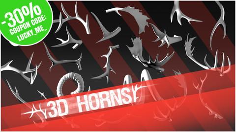 3D Pack: Horns