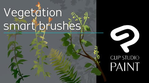 Vegetation brush pack for Clip Studio Paint