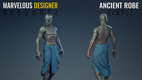Ancient Robe - Simple - Marvelous Designer Resource