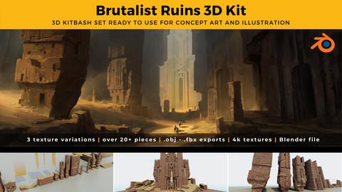 Brutalist Fantasy Ruins