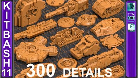 Mega Pack KITBASH 300 DETAILS