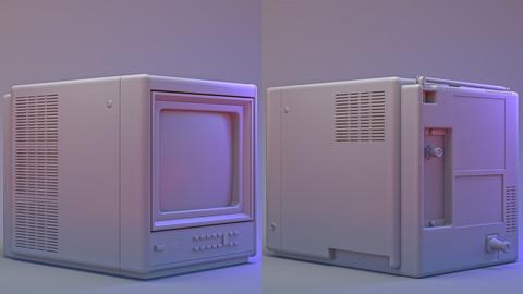 1986 Zenith Color Portable TV