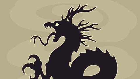 Vector dragon emblem