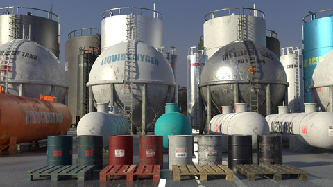 Industrial Storage Tank Asset Pack